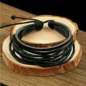💲3FOR$10💲 Men's Leather Bracelet